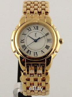 Ysl Yves Saint Laurent Gold Plated Swiss Made Watch