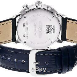 ZEPPELIN 7036-3 Hindenburg Quartz Men's Watch Navy Dial Plate EMS withTracking NEW