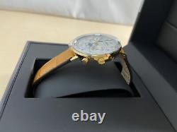 ZEPPELIN watch Hindenburg silver dial plate 7039-1 Mens