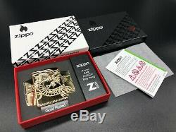 Zippo 3D Multi Cut Gold Plated Dragon with Crystal Eye! Sealed (Very Rare)